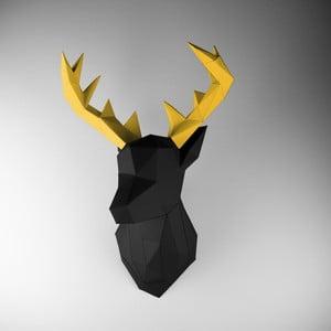 Papierová trofej Jeleň, čierno-zlatý
