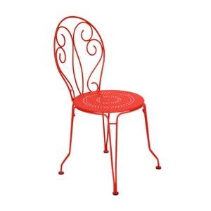 Oranžovočervená kovová stolička Fermob Montmartre