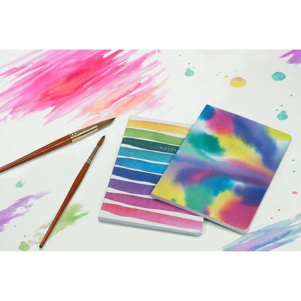 Sada 2 zápisníkov A5 Portico Designs Watercolor, 100stránok