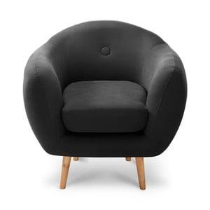 Čierne kreslo Stella