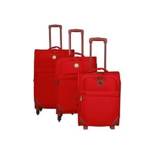 Sada 3 kufrov Jean Louis Scherrer Valises Red