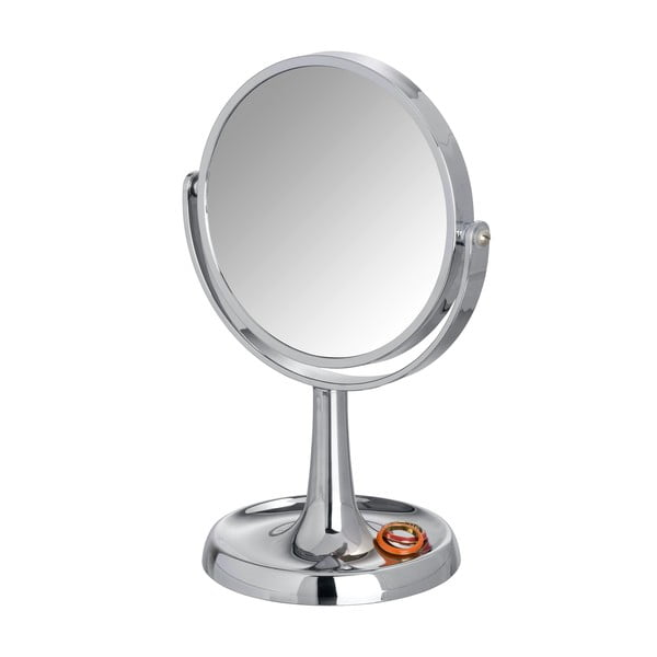 Chrómované kozmetické stojacie zrkadlo Wenko Rosolina, výška 28cm