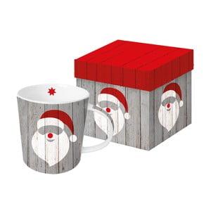 Porcelánový hrnček s vianočným motívom v darčekovom balení PPD Santa On Wood, 350 ml