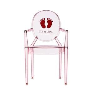 Detská transparentná stolička Kartell Lou Lou Ghost Girl
