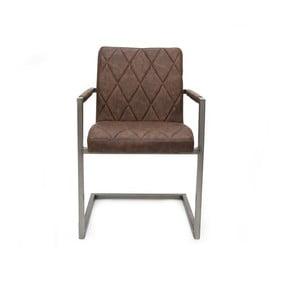 Tmavohnedá jedálenská stolička s opierkami LABEL51 Oslo