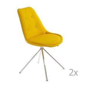 Sada 2 žltých jedálenských stoličiek 13Casa Lars