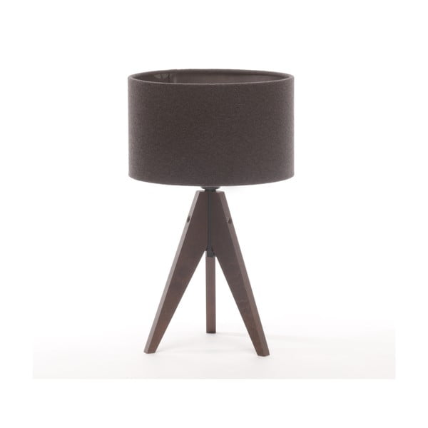 Stolná lampa Arist Cylinder Dark Grey/Dark Brown