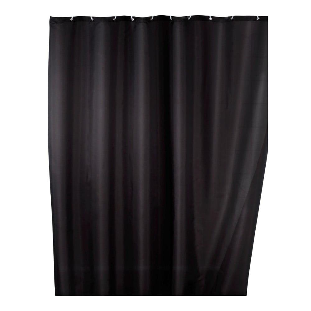 Čierny sprchový záves s protiplesňovou povrchovou úpravou Wenko, 180×200 cm Dni plné ničnerobenia strávené v luxusnom wellness hoteli.  A teraz za týmto blahom ani nemusíte nikam cestovať!