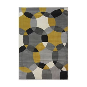 Koberec Flair Rugs Cocktail Cosmo Grey Ochre, 160 × 230 cm