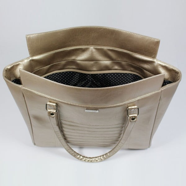 Stříbrná kabelka Dara bags Futurio Extended