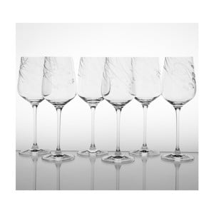 Ateliér Žampach, set 6 ks pohárov na červené víno Traviny dole