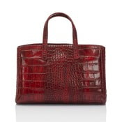Červená kožená kabelka Markese Magnata
