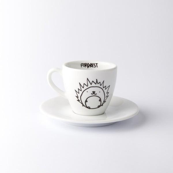 Hrnček na espresso s tanierikom Hedgehog, 100 ml