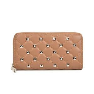 Béžová kožená peňaženka Isabella Rhea Emanuele