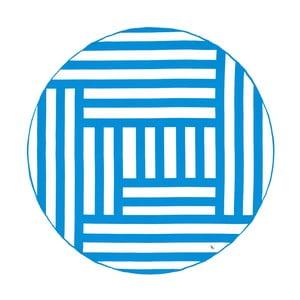 Okrúhla rýchloschnúca osuška s modrým pruhom Dock and Bay, ⌀ 190 cm