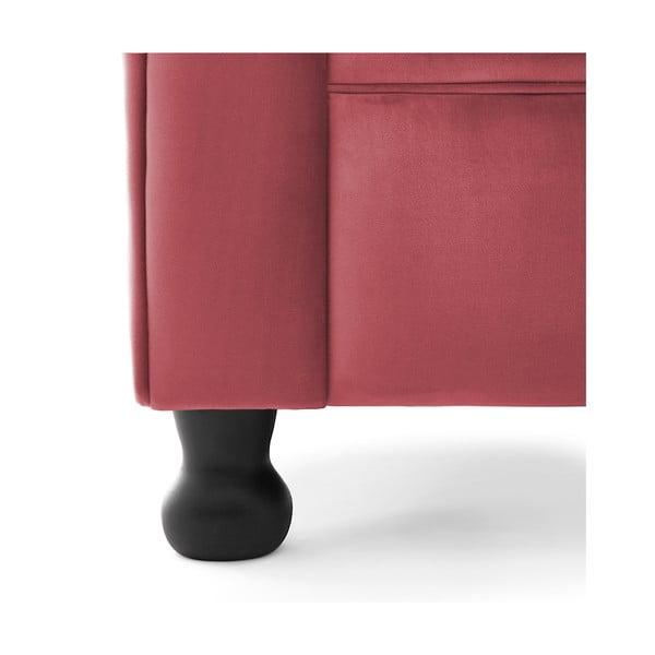 Červené kreslo Vivonita Chesterfield
