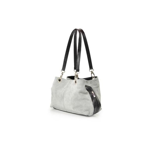 Kožená kabelka Gigi, sivá