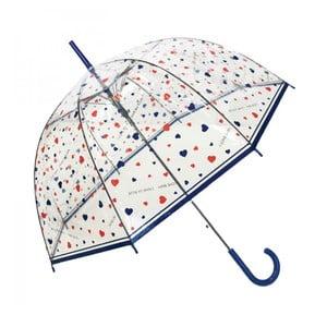 Transparentný dáždnik Susino Hearts