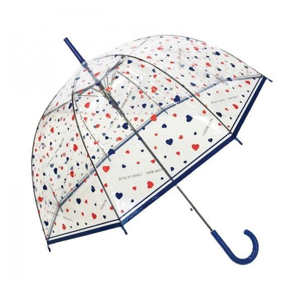 Transparentný dáždnik Ambiance Susino Hearts