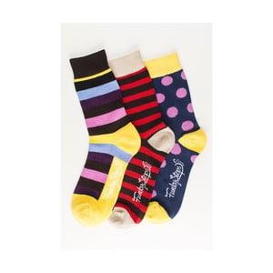 Sada 3 párov unisex ponožiek Funky Steps Fini, veľkosť 39/45