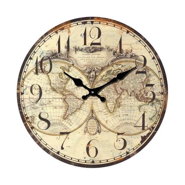Sklenené hodiny Svet, 34 cm