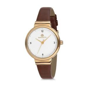 Dámske hodinky s hnedým koženým remienkom Bigotti Milano Anette