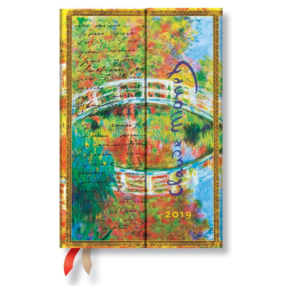 Diár na rok 2019 Paperblanks Letter to Morisot Horizontal, 10 × 14 cm