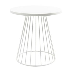 Biely odkladací stolík Kare Design Bistro Wire