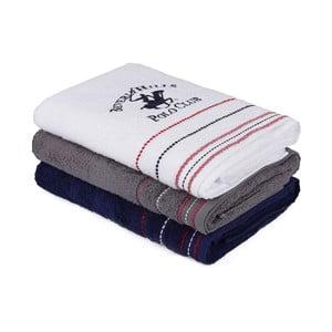 Sada troch bavlnených uterákov do kúpeľni, 140 x 70 cm