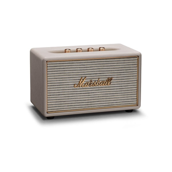 Krémovo-biely reproduktor s Bluetooth pripojením Marshall Acton Multi-room