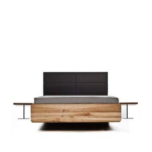 Posteľ z jelšového dreva Mazzivo Boxspring, 200 x 200 cm