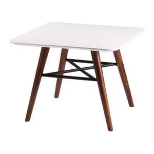 Biely konferenčný stolík snohami vdekore tmavého dreva sømcasa Andy