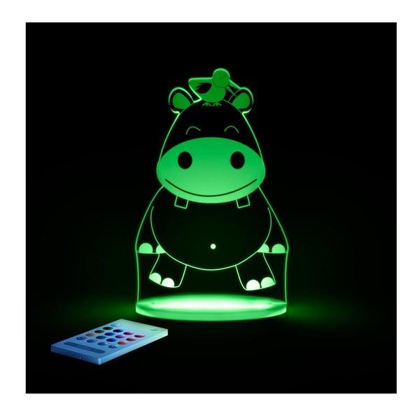 Detské LED nočné svetielko Aloka Hippo