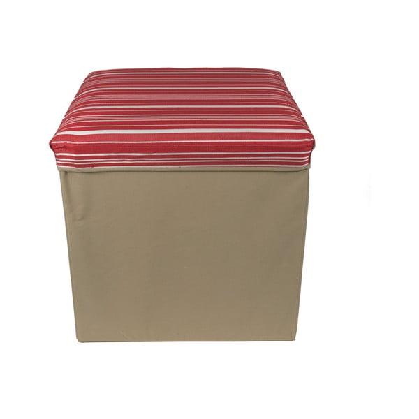 Skladacia úložná krabica Red Stripes