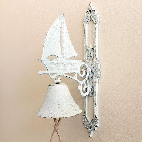 Liatinový zvonček Vintage White