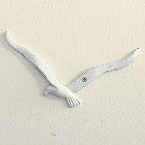 Biela nástenná dekorácia Dakls Čajka