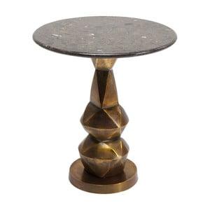 Odkladací stolík s prírodnou mramorovou doskou Kare Design Connect, ⌀ 46 cm