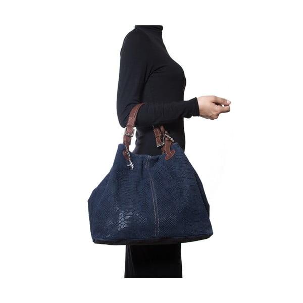Kožená kabelka Luisa Vannini 841 Blu