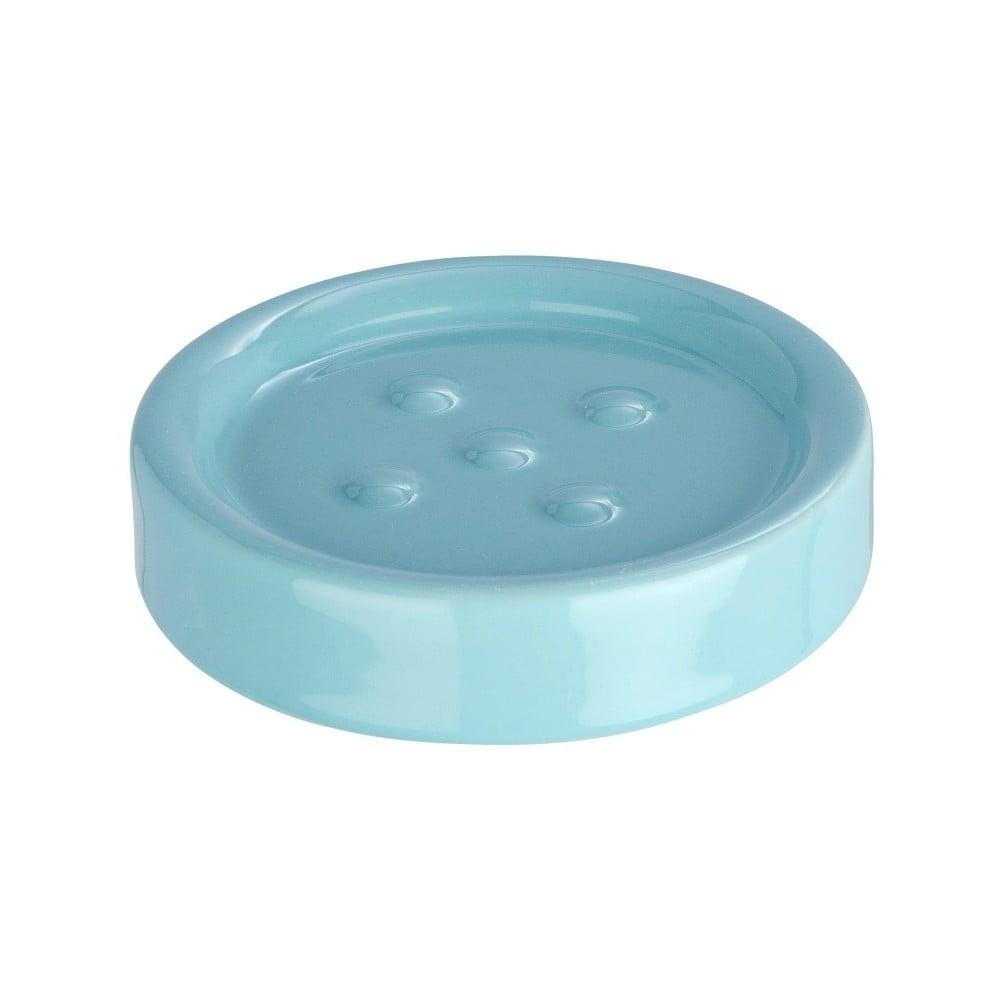 Svetlomodrá podložka pod mydlo Wenko Polaris Blue