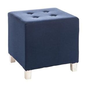 Taburetka Button Blue, 34x34x35 cm