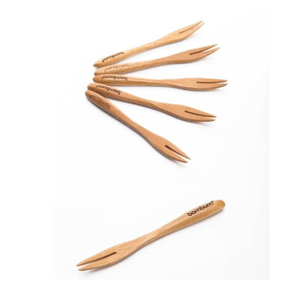 Sada 6 bambusových napichovadiel Bambum Salsa