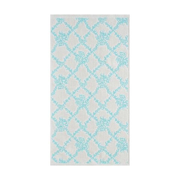 Modrý odolný koberec Vitaus Scarlett, 80x200cm