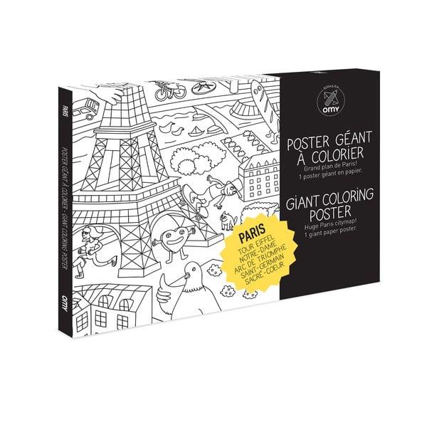 Plagát omaľovánka Paris