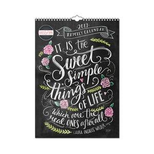 Rodinný A3 kalendár Portico Designs Lily & Val