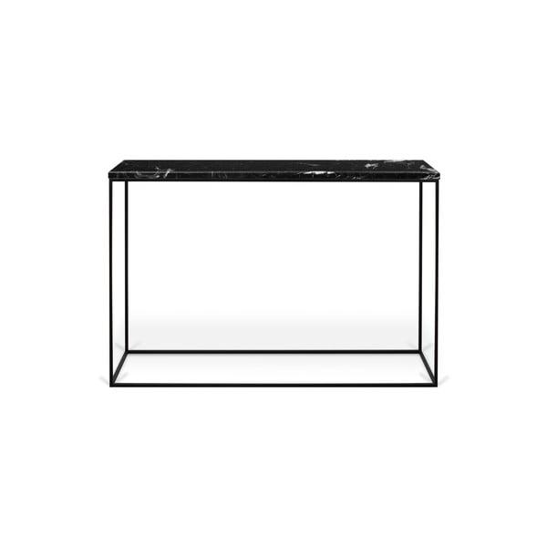 Konzolový stolík s doskou z čierneho mramoru TemaHome Gleam