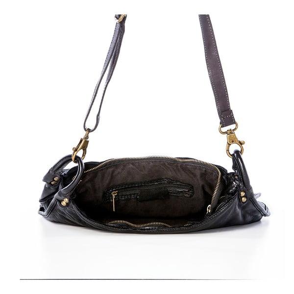 Čierna kožená kabelka Federica Bassi Octans