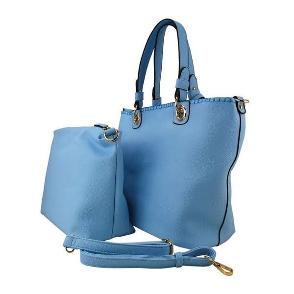 Kožená kabelka Ginny Light Blue