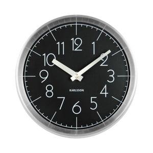 Čierne nástenné hodiny ETH Convex