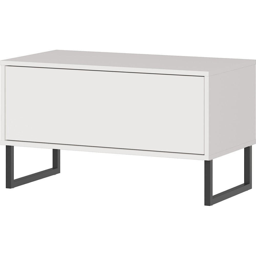Biela lavica so zásuvkou Germania Madeo, šírka 75 cm