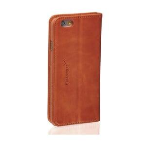 Koňakovohnedý kožený obal na iPhone 6/6S Packenger